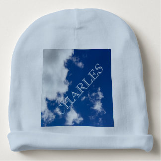 Blue Sky and Clouds Baby Beanie