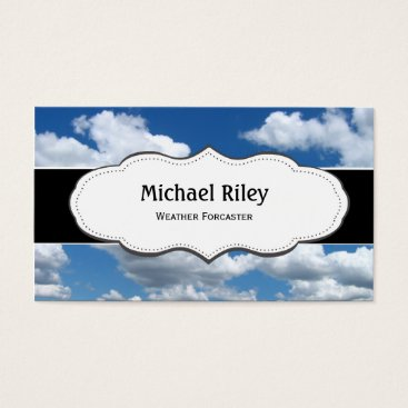 Professional Business Blue sky and clouds Business Cards