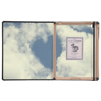 Blue Sky and Clouds Hearts iPad Covers