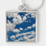 Blue Sky and Clouds Keychain