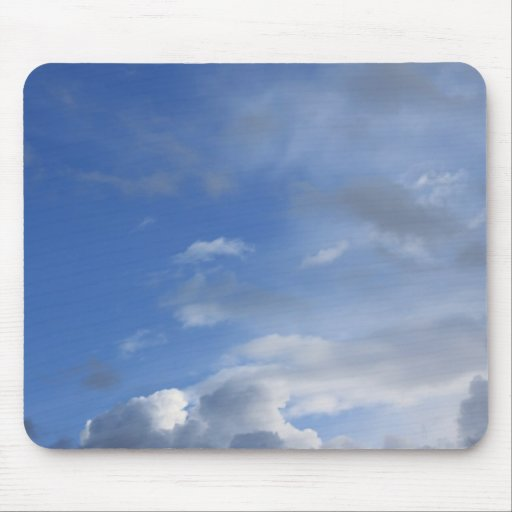Blue sky and clouds mouse pad