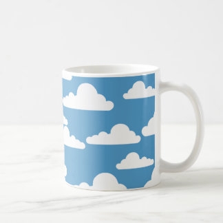 BLUE SKY AND CLOUDS White Mug