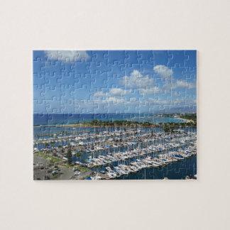 Blue Sky and Marina in Hawaii Jigsaw Puzzle