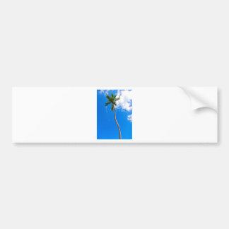 Blue Sky and Palm Tree Bumper Sticker