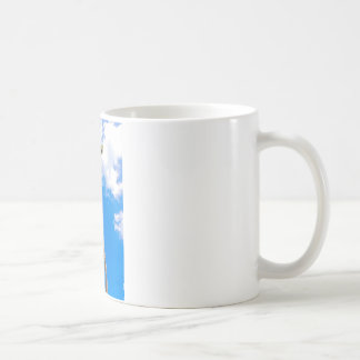 Blue Sky and Palm Tree Coffee Mug