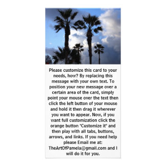 Blue Sky and Palm Trees Card
