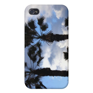Blue Sky and Palm Trees iPhone 4 Cases