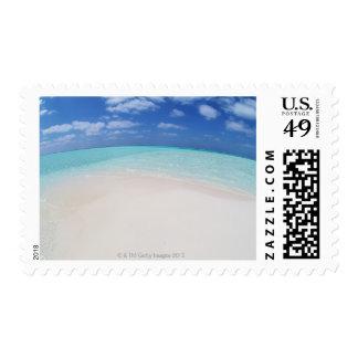 Blue sky and sea 10 postage stamp