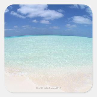 Blue sky and sea 12 square sticker
