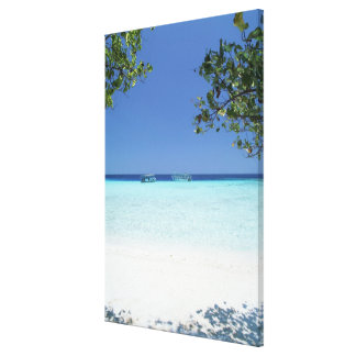 Blue sky and sea 14 canvas print