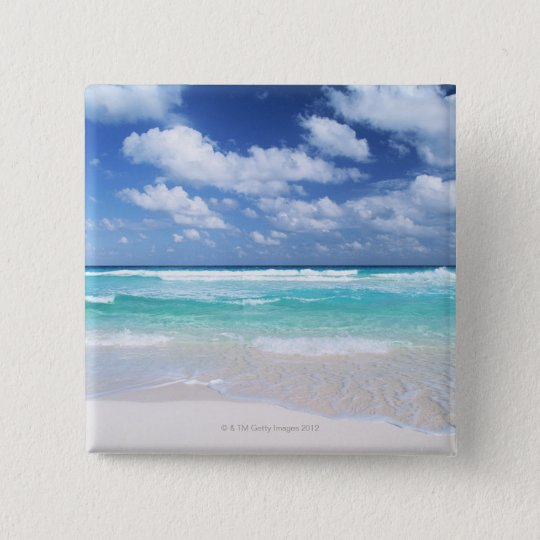 Blue sky and sea 14 pinback button