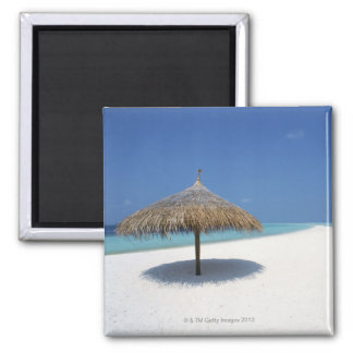 Blue sky and sea 16 2 inch square magnet