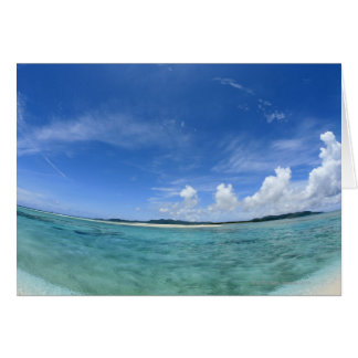 Blue sky and sea 3 card