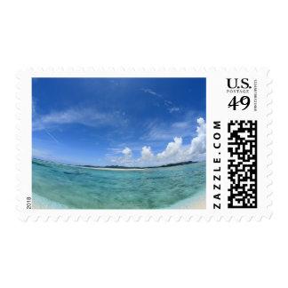 Blue sky and sea 3 postage