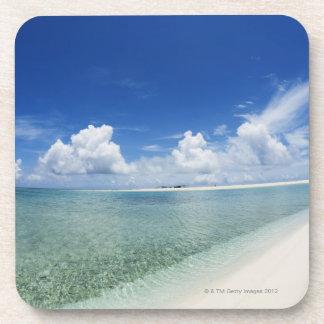 Blue sky and sea 4 drink coaster