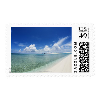 Blue sky and sea 4 postage stamp
