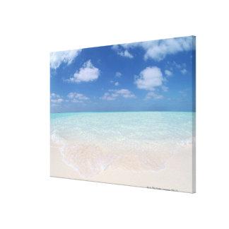 Blue sky and sea 9 canvas print