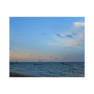 Blue sky and sea canvas print