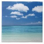 Blue sky and sea tiles