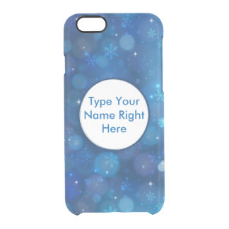 Blue Sky and Snowflake for iPhone 6/6s Clear iPhone 6/6S Case