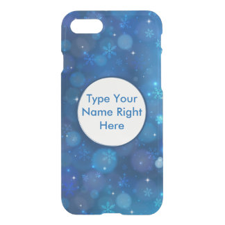 Blue Sky and Snowflake for iPhone 7 iPhone 7 Case