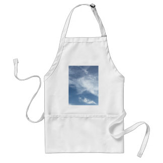 Blue Sky and  White Clouds Adult Apron