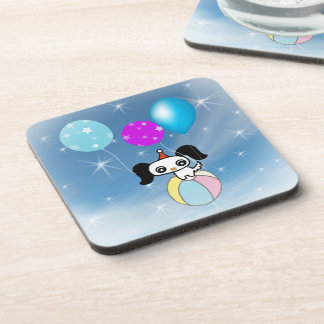 Blue sky and white clouds beverage coaster