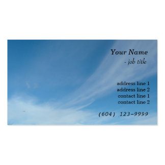 Blue sky and white clouds business card