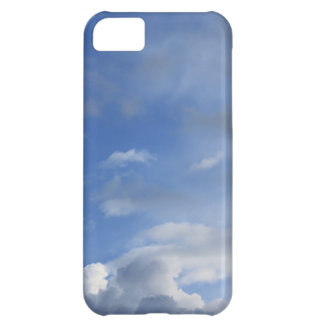 Blue sky and white clouds iPhone 5C cover