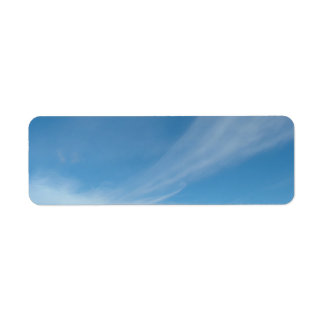 Blue sky and white clouds label