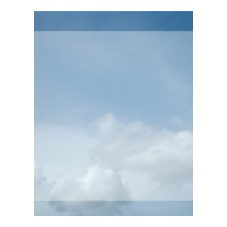 Blue sky and white clouds. letterhead