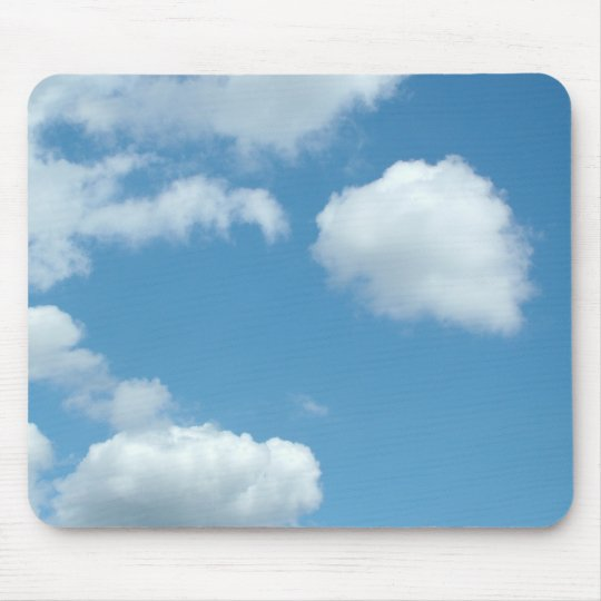 blue sky and white clouds mouse pad