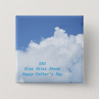 Blue Sky and White Clouds Pinback Button