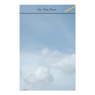 Blue sky and white clouds. custom stationery