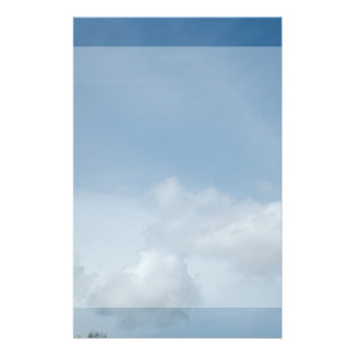 Blue sky and white clouds. customized stationery