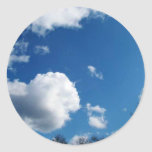 blue sky and white clouds stickers