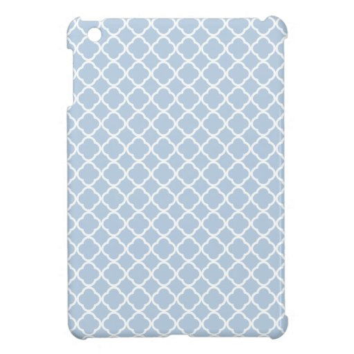 Blue Sky And White Quatrefoil. Moroccan Pattern Cover For The iPad Mini