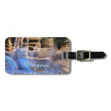 "Beach Themed Blue sky beach photo ""your name here"" luggage tag"