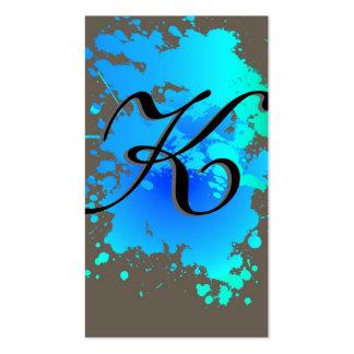 Blue Sky Blue Ink Paint Splash Business Card
