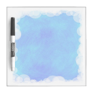 Blue Sky Bubbles and Clouds Dry Erase Board