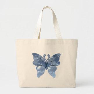 Blue Sky Butterfly Jumbo Tote Bag