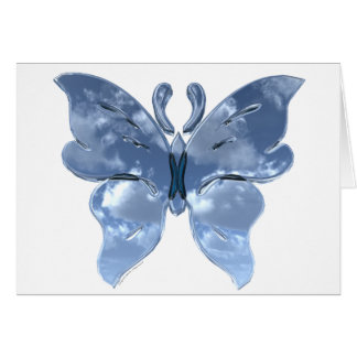 Blue Sky Butterfly Greeting Card