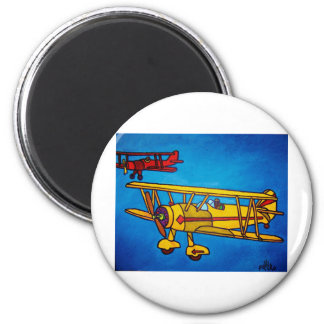 Blue Sky by Piliero 2 Inch Round Magnet