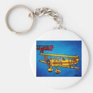 Blue Sky by Piliero Basic Round Button Keychain