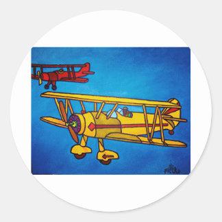 Blue Sky by Piliero Classic Round Sticker