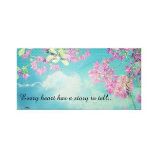 Blue Sky & Cherry Blossom dreams Canvas Print