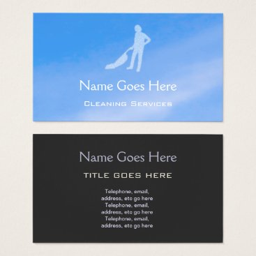 """Professional Business """"Blue Sky"""" Cleaning Business Cards"""