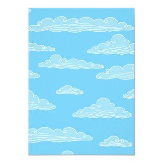 Blue Sky Cloud Pattern Card