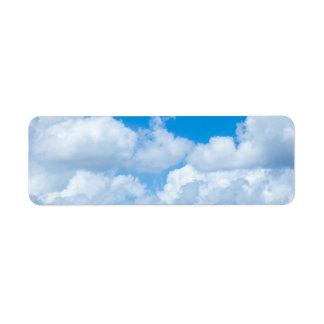 Blue Sky Clouds Background Skies Heaven Design Label