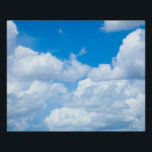 """Blue Sky Clouds Background Skies Heaven Design Poster<br><div class=""""desc"""">Use our cool template, artwork, photo, graphic, or illustration, then add a name, text, quote, or monogram to create your own custom or monogrammed 16x20 poster print. Click the &quot;Customize it!&quot; button to make it totally customized. These posters are great gifts for men, women, and kids (and you, too, of...</div>"""